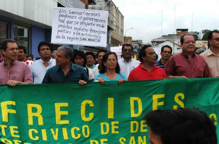 Año 2007, durante la marcha regional en defensa de la Cordiller Escalera