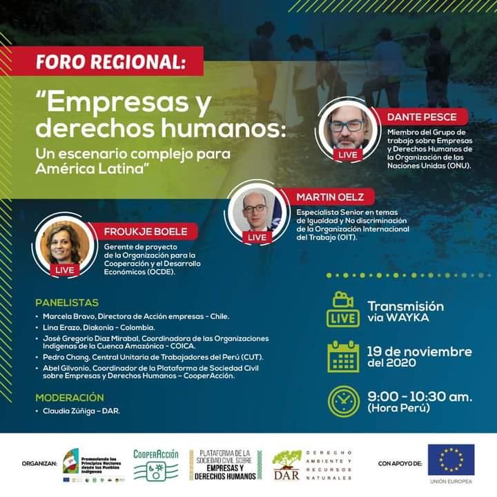 Foro regional sobre empresas y derechos humanos